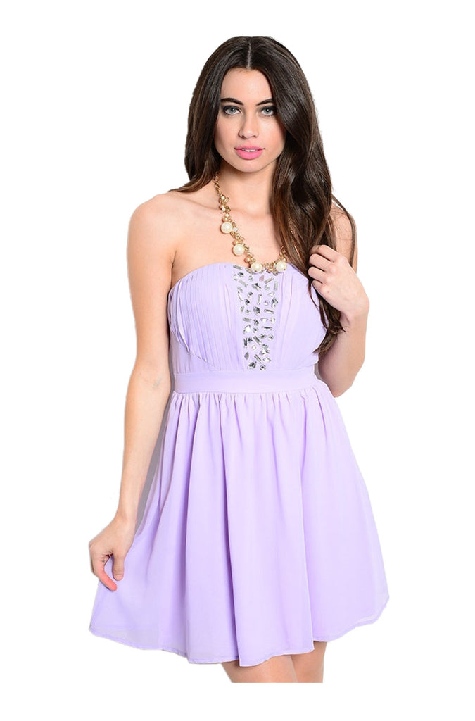 Strapless Chiffon Fit & Flare Cocktail Dress - BodiLove | 30% Off First Order  - 3