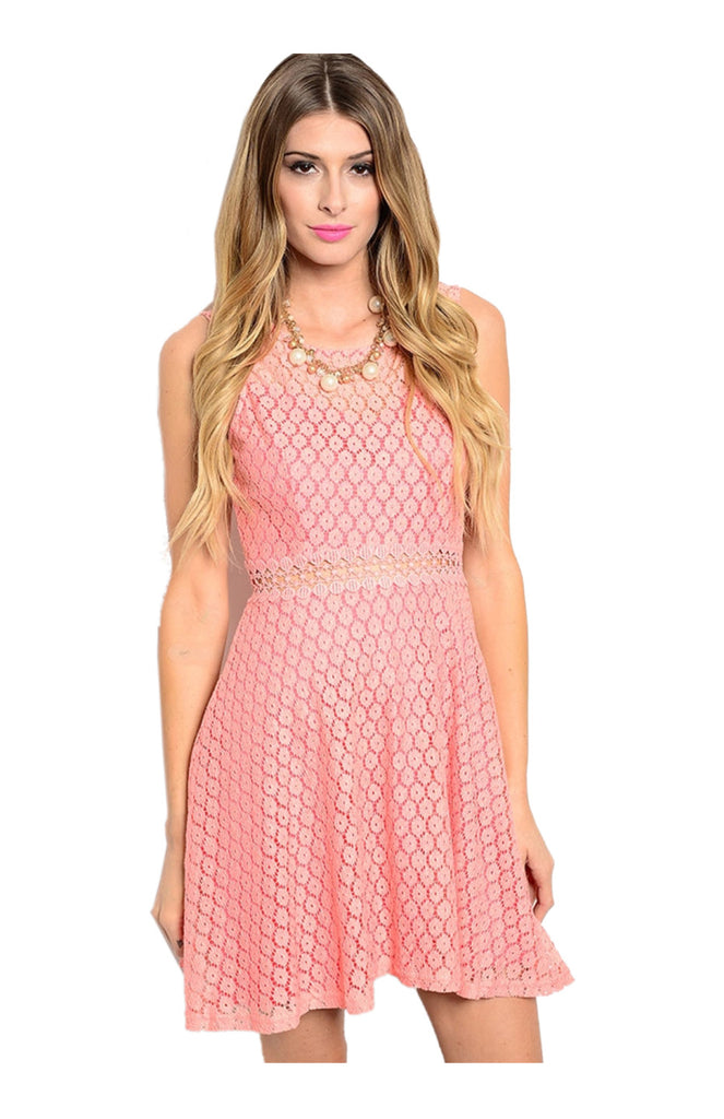 Sleeveless Crochet Lace Fit & Flare Cocktail Dress - BodiLove | 30% Off First Order  - 5