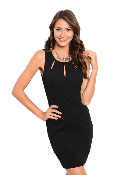 Sleeveless Bodycon Cocktail Dress W/ Cutouts - BodiLove | 30% Off First Order  - 1