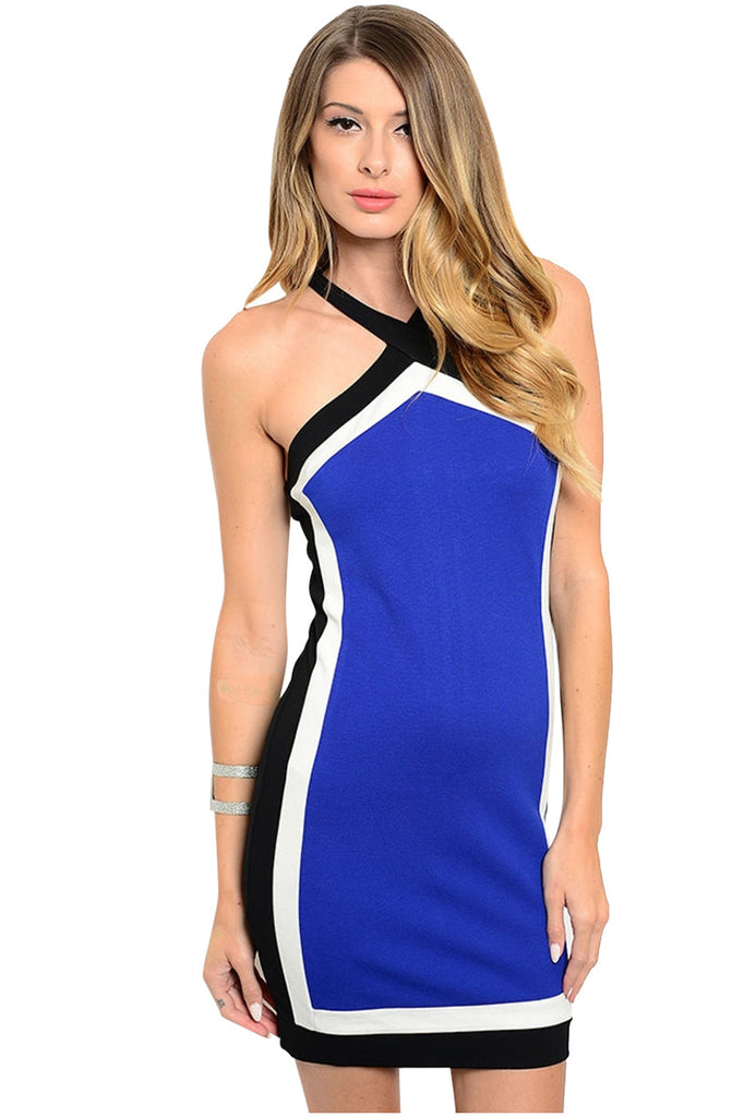 Sleeveless Colorblocked Bodycon Cocktail Dress - BodiLove | 30% Off First Order  - 3