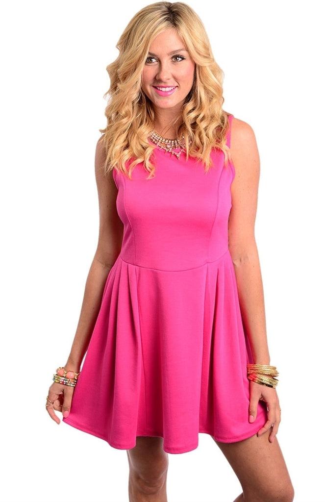 Sleeveless Fit & Flare Skater Dress - BodiLove | 30% Off First Order  - 3