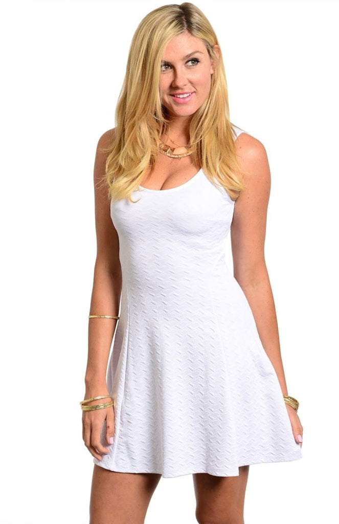 Sleeveless Knit Skater Dress W/ Back Cutout - BodiLove | 30% Off First Order  - 5