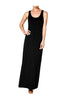 Sleeveless Racerback Maxi Dress | 30% Off First Order | Black