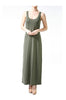 Sleeveless Racerback Maxi Dress | 30% Off First Order | Olive
