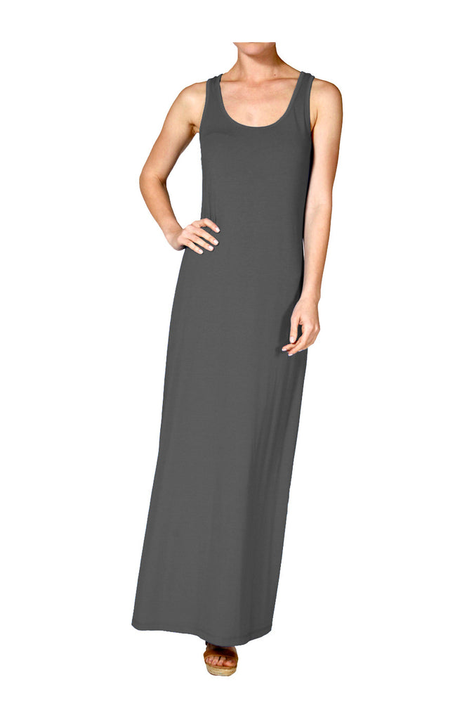 Sleeveless Racerback Maxi Dress | 30% Off First Order | Teal