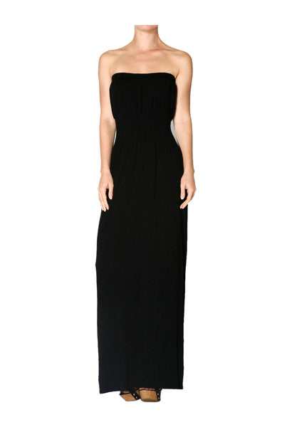 Strapless Maxi Dress With Smocked Waistline - BodiLove | 30% Off First Order  - 1
