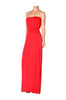 Strapless Maxi Dress With Smocked Waistline - BodiLove | 30% Off First Order  - 18
