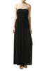 Trendy Solid Color Strapless Maxi Dress - BodiLove | 30% Off First Order  - 1