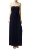 Trendy Solid Color Strapless Maxi Dress - BodiLove | 30% Off First Order  - 8