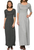 Shortsleeve, Jersey-Knit Maxi Dress | 30% Off First Order | Heather Gray