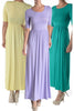 Shortsleeve, Jersey-Knit Maxi Dress | 30% Off First Order | Lilac
