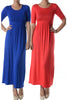 Shortsleeve, Jersey-Knit Maxi Dress | 30% Off First Order | Royal Blue