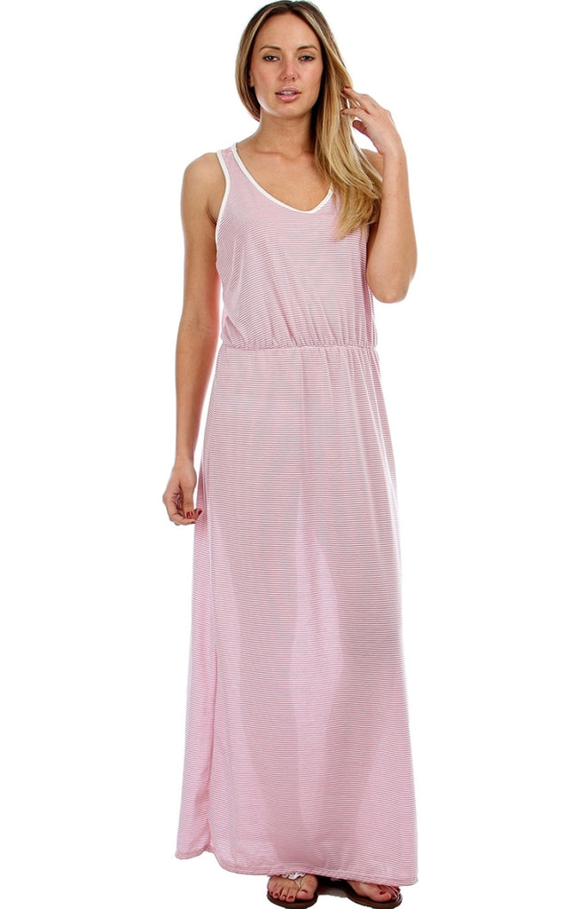 Striped Chiffon Racer Back Maxi Dress - BodiLove | 30% Off First Order  - 1