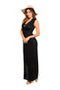 Sleeveless V-Neck Empire Waist Maxi Dress | 30% Off First Order | Black