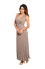 Sleeveless V-Neck Empire Waist Maxi Dress | 30% Off First Order | Mocha