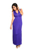 Sleeveless V-Neck Empire Waist Maxi Dress | 30% Off First Order | Purple-1