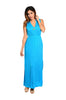 Sleeveless V-Neck Empire Waist Maxi Dress | 30% Off First Order | Turquoise