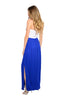 Strapless Color Blocked Maxi Dress - BodiLove | 30% Off First Order  - 2