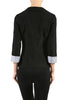 Tailored 3/4 Sleeve Single Button Blazer - BodiLove | 30% Off First Order  - 2