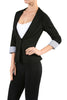 Tailored 3/4 Sleeve Single Button Blazer - BodiLove | 30% Off First Order  - 3