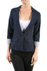 Tailored 3/4 Sleeve Single Button Blazer - BodiLove | 30% Off First Order  - 8