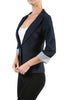 Tailored 3/4 Sleeve Single Button Blazer - BodiLove | 30% Off First Order  - 10