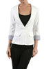 Tailored 3/4 Sleeve Single Button Blazer - BodiLove | 30% Off First Order  - 5