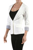 Tailored 3/4 Sleeve Single Button Blazer - BodiLove | 30% Off First Order  - 7