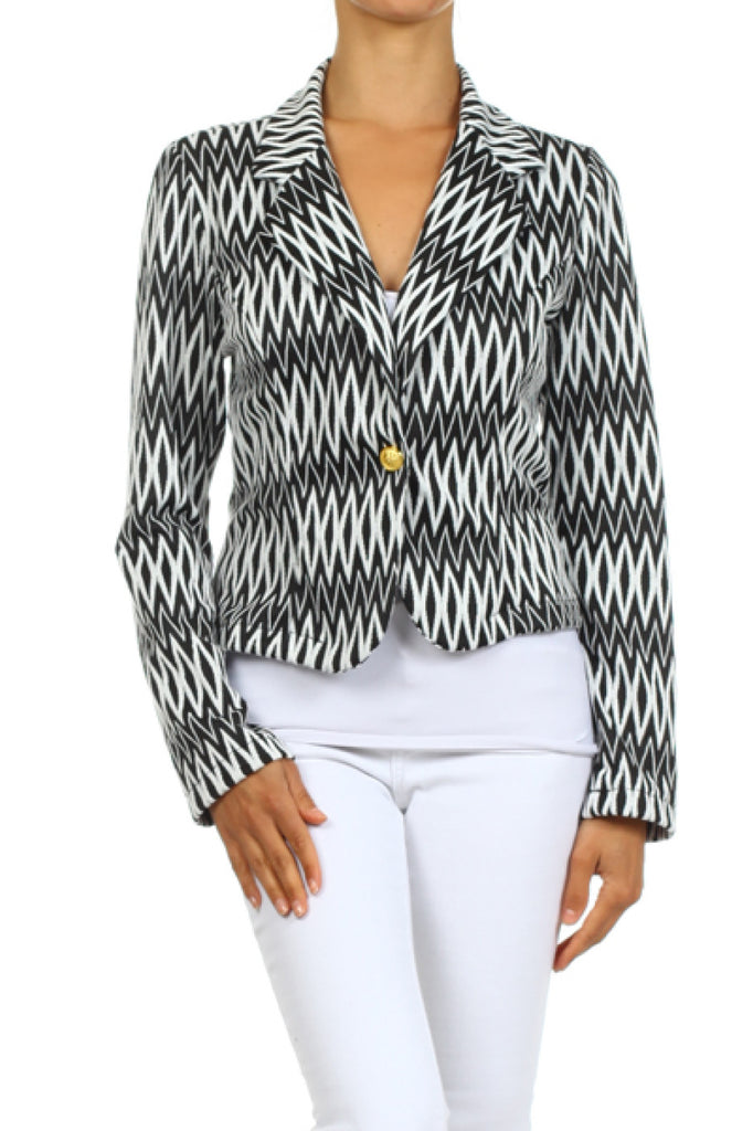 Long Sleeve Single Button Tailored Blazer - BodiLove | 30% Off First Order  - 13