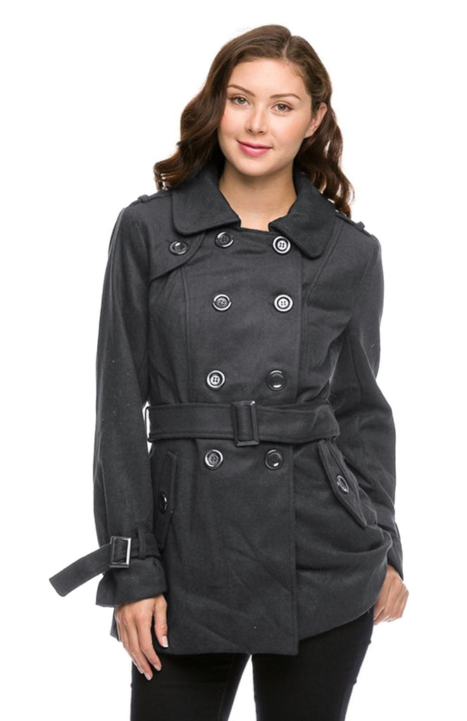Double Breasted Peacoat W/ Sash Belt - BodiLove | 30% Off First Order - 7
