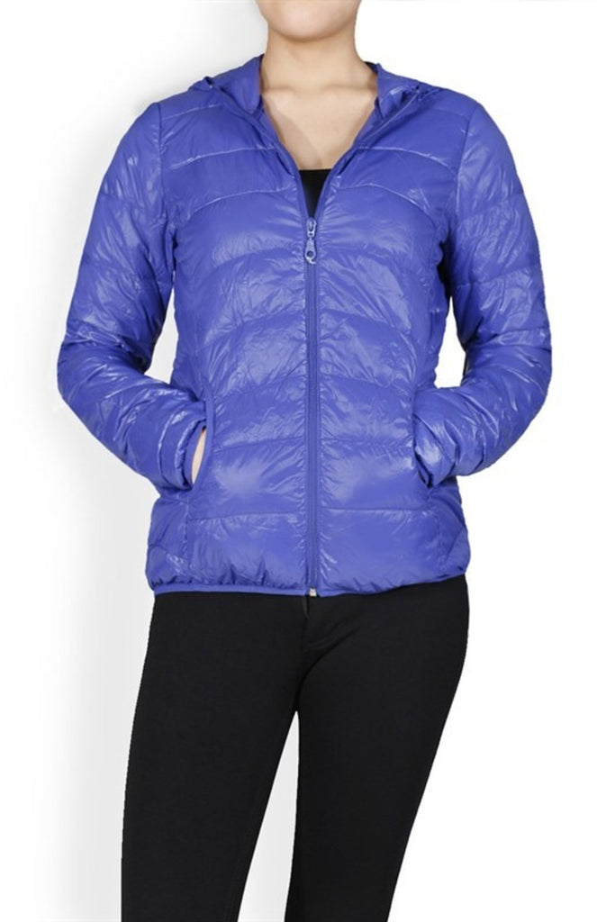 Long Sleeve Zip Up Hooded Down Puffy Jacket - BodiLove | 30% Off First Order - 11