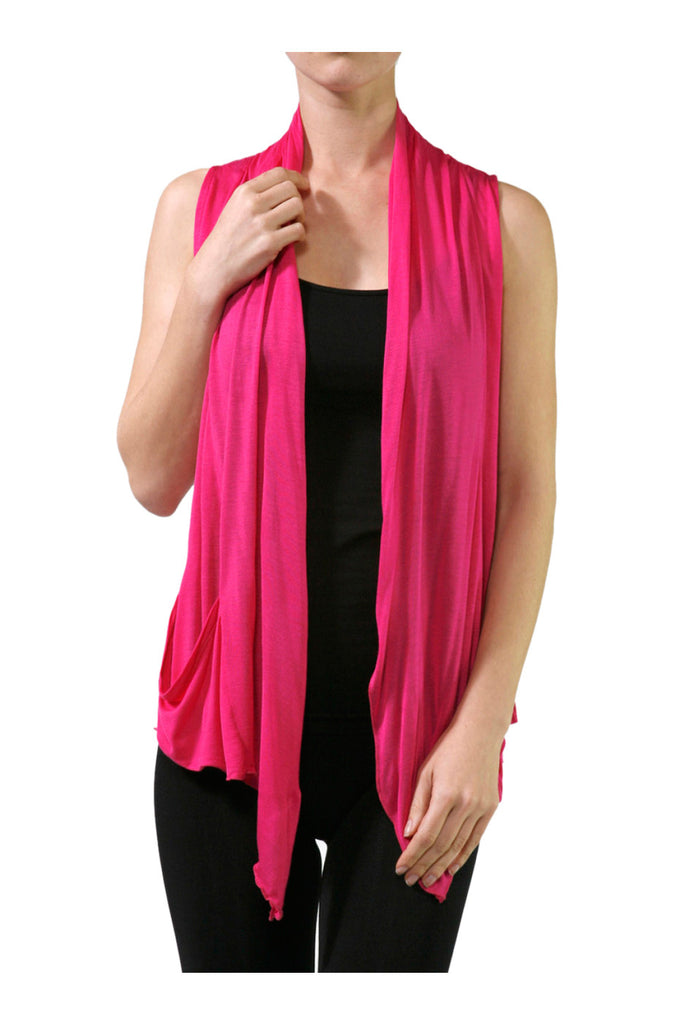 Sleeveless Open Front Cardigan Vest W/ Pockets - BodiLove | 30% Off First Order  - 4