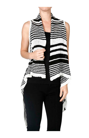 Sleeveless Open Front Knit Cardigan Vest