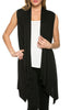 Draped Open Front Jersey Knit Vest - BodiLove | 30% Off First Order  - 1