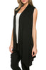 Draped Open Front Jersey Knit Vest - BodiLove | 30% Off First Order  - 3
