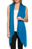 Draped Open Front Jersey Knit Vest - BodiLove | 30% Off First Order  - 5