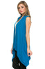 Draped Open Front Jersey Knit Vest - BodiLove | 30% Off First Order  - 7