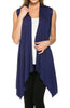 Draped Open Front Jersey Knit Vest - BodiLove | 30% Off First Order  - 9
