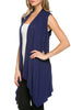 Draped Open Front Jersey Knit Vest - BodiLove | 30% Off First Order  - 11