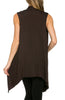 Draped Open Front Jersey Knit Vest - BodiLove | 30% Off First Order  - 13
