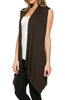 Draped Open Front Jersey Knit Vest - BodiLove | 30% Off First Order  - 14