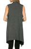 Draped Open Front Jersey Knit Vest - BodiLove | 30% Off First Order  - 16