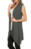 Draped Open Front Jersey Knit Vest - BodiLove | 30% Off First Order  - 17