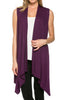Draped Open Front Jersey Knit Vest - BodiLove | 30% Off First Order  - 18