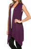 Draped Open Front Jersey Knit Vest - BodiLove | 30% Off First Order  - 20