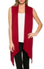 Draped Open Front Jersey Knit Vest - BodiLove | 30% Off First Order  - 21