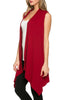 Draped Open Front Jersey Knit Vest - BodiLove | 30% Off First Order  - 23