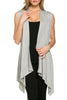 Draped Open Front Jersey Knit Vest - BodiLove | 30% Off First Order  - 24