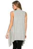 Draped Open Front Jersey Knit Vest - BodiLove | 30% Off First Order  - 25
