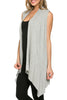 Draped Open Front Jersey Knit Vest - BodiLove | 30% Off First Order  - 26
